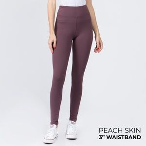 "NWT Violet Peach Skin Leggings with 3"" Waistband"
